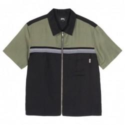 Stüssy Color Block Zip Work Shirt