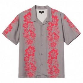 Stüssy Hawaiian Pattern Shirt-Grey