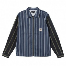 Stüssy Mix Stripe Zip Up Work Ls