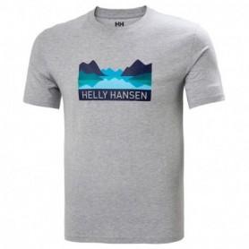 Helly Hansen Nord Graphic T-Shirt-Grey