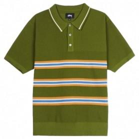Stussy Stussy Montego Stripe Polo-Green